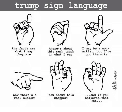 Trump Sign Language I May Be A Con- The Facts Are There's