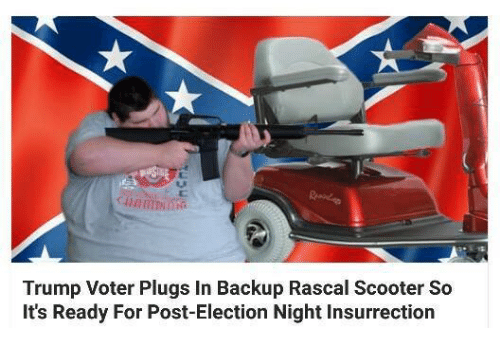 trump voter plugs in backup rascal scooter so its ready 5569522 ✅ 25 best memes about rascal scooter rascal scooter memes,Rascal Scooter Meme