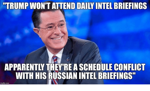 Trump Wont Attend Daily Intel Briefings Apparently They Re A