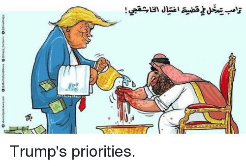 Image result for image cartoon trump priorities