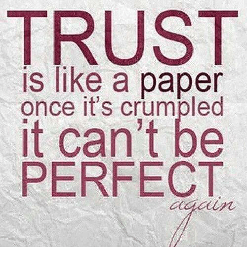 Memes, 🤖, And Once: TRUST Is Like A Paper Once Itu0027s Crumpled It