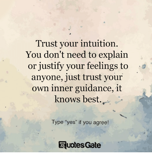 when to trust your intuition