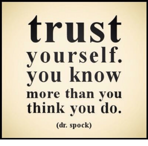 Trust Yourself You Know More Than You Think You Do Dr Spock Meme