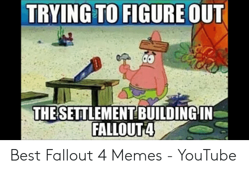 TRYING TO FIGURE OUT THESETTLEMENTBUILDINGIN FALLOUT4 Best