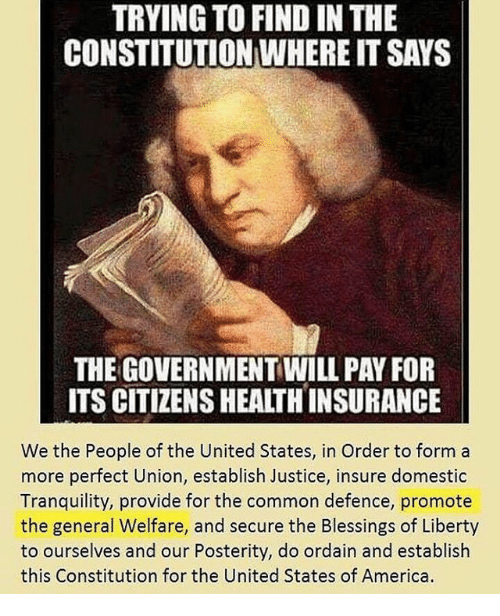 TRYING TO FIND IN THE CONSTITUTION WHERE IT SAYS THE GOVERNMENT ...