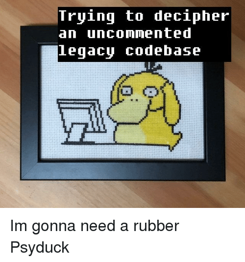 Psyduck, Rubber, and Decipher: Tryinq to decipher  an uncommented  eqacu COdebase Im gonna need a rubber Psyduck