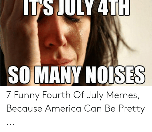 Tsjuly 4t Somany Noises 7 Funny Fourth Of July Memes Because