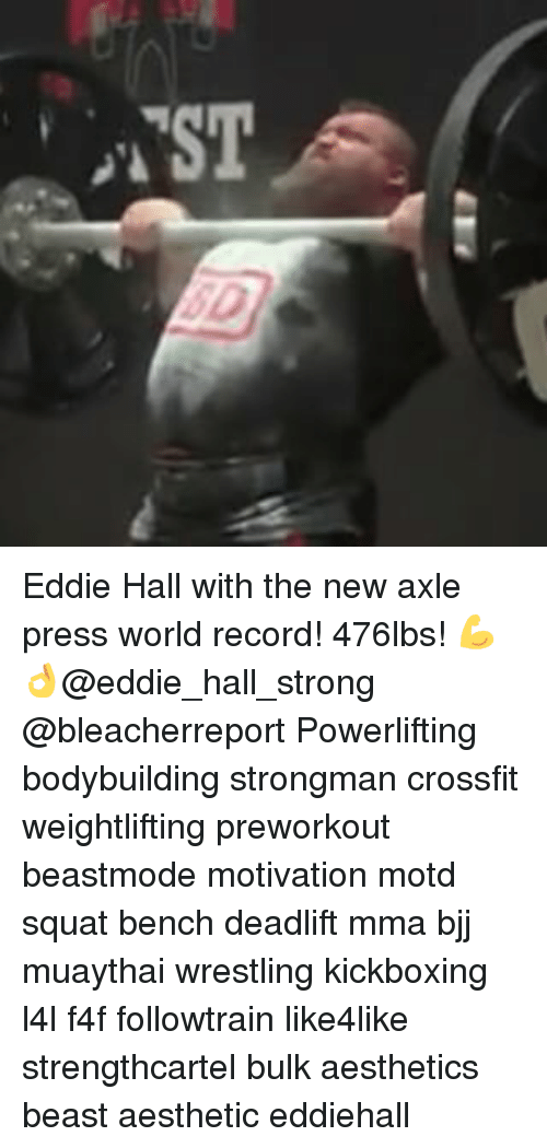 TST Eddie Hall With the New Axle Press World Record! 476lbs