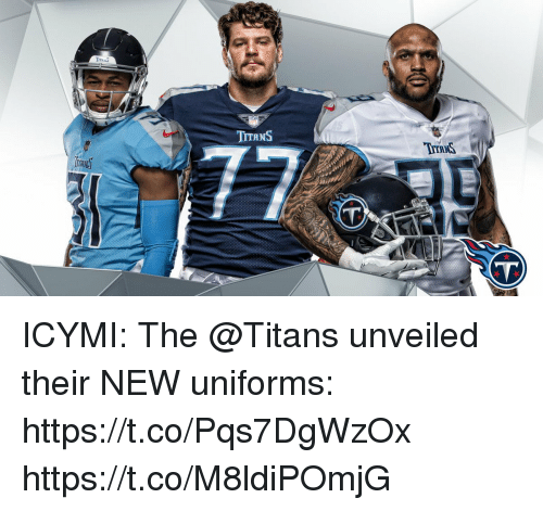 Memes, 🤖, and Titans: TTRNS  TYTRNS  VT ICYMI: The @Titans unveiled their NEW uniforms: https://t.co/Pqs7DgWzOx https://t.co/M8ldiPOmjG
