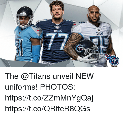 Memes, 🤖, and Titans: TTRNS  TYTRNS  VT The @Titans unveil NEW uniforms!  PHOTOS: https://t.co/ZZmMnYgQaj https://t.co/QRftcR8QGs