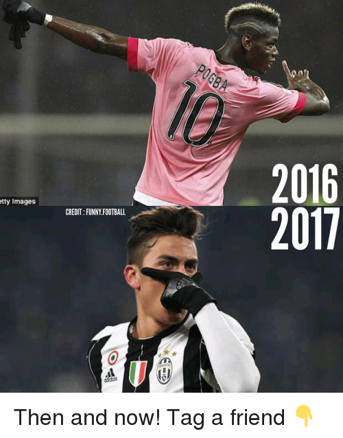 Memes, 🤖, and Tty: tty Images  CREDIT FUNNY FOOTBALL  oddos  2016  2011 Then and now! Tag a friend 👇