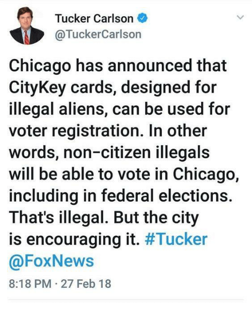 chicago aliens and foxnews tucker carlson tuckercarlson chicago has announced that citykey