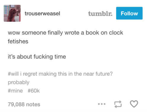 tumblrFollow Trouserweasel Wow Someone Finally Wrote a Book on Clock