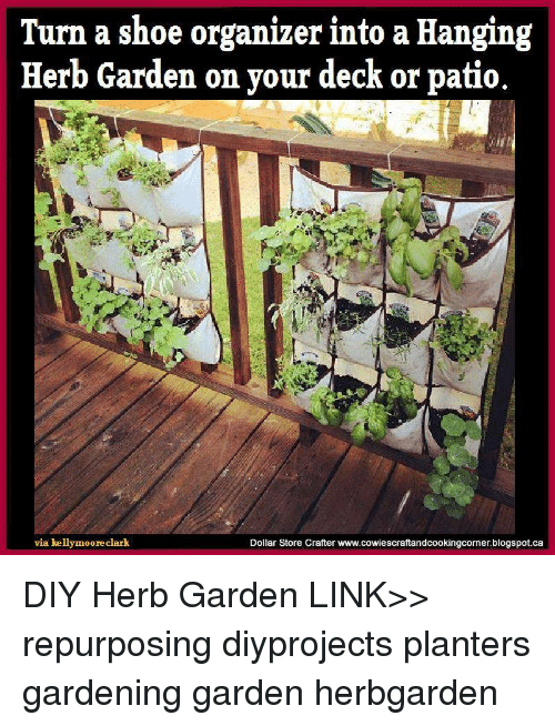 Merveilleux Memes, Dollar Store, And 🤖: Turn A Shoe Organizer Into A Hanging Herb