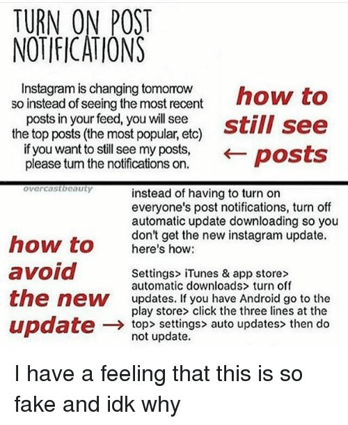 TURN ON POST NOTIFICATIONS Nstagram Schangino Nonsnthow to