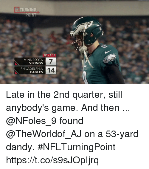 Turning Point Esi Zq 118 Minnesota Vikings 7 14 Philadelphia Eagles