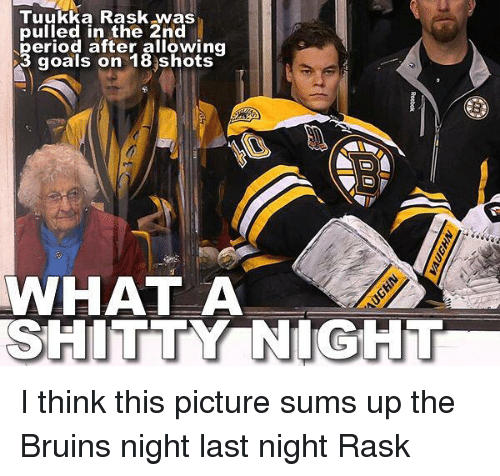 tuukka rask was pulled in the 2nd period after allowing 11567575 ✅ 25 best memes about tuukka tuukka memes