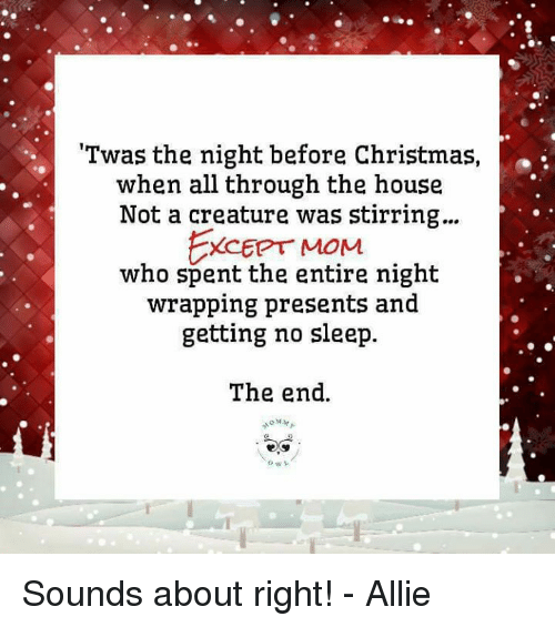 Memes, Twas the Night Before Christmas, and Ally: 'Twas the night before