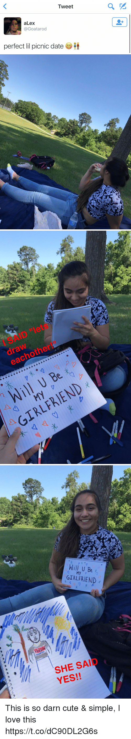 Tweet 2 Alex Perfect Lil Picnic Date I Said Lets Draw Eachother 2