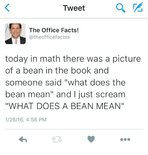 tweet a the office facts today in math there was a picture of a