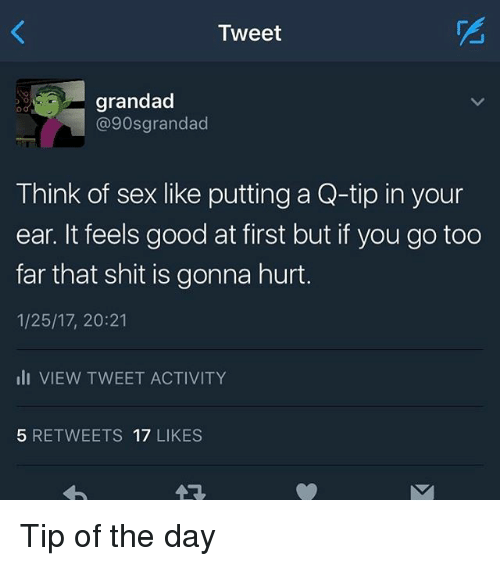 Sex with q-tip