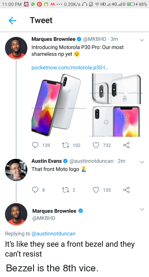 Tweet Marques Brownlee 3m Introducing Motorola P30 Pro Our Most