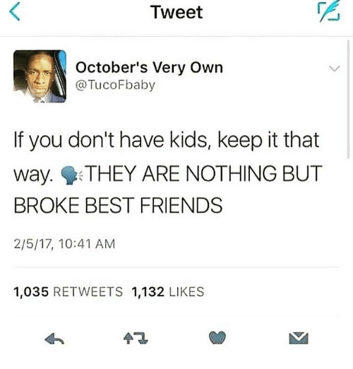 Tweet October's Very Own Filbaby if You Don't Have Kids Keep It That