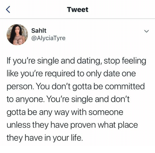 Only dating one person