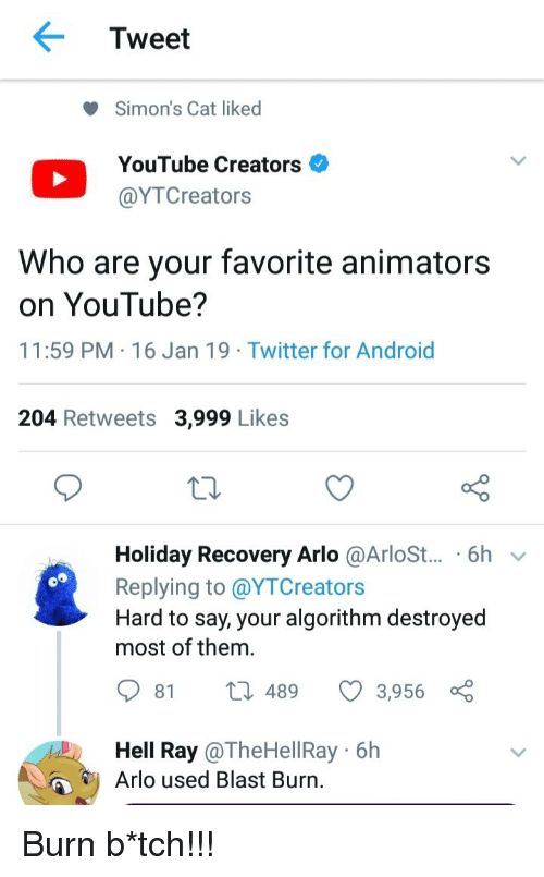 Tweet Simon's Cat Liked YouTube Creators Who Are Your