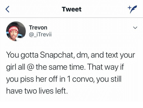 Snapchat or text a girl