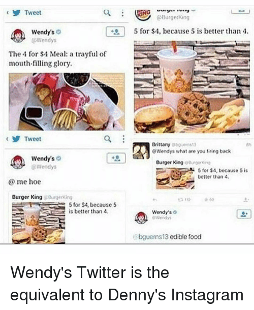 tweet wendy s cowendys the 4 for 4 meal a trayful of mouth filling