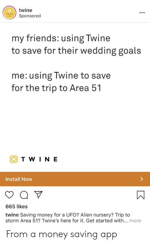 Twine Sponsored My Friends Using Twine to Save for Their