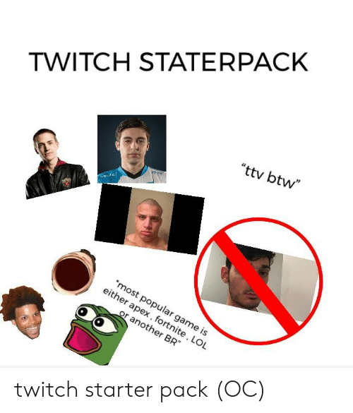 TWITCH STATERPACK Ttv Btw Most Popular Ga Either a Pex