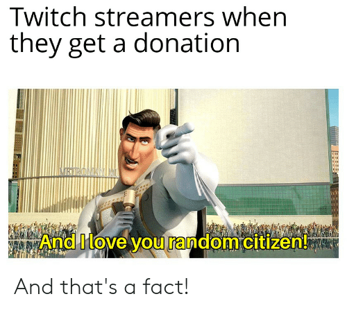 Twitch Streamers When They Get a Donation NRROMANINU and Ilove You
