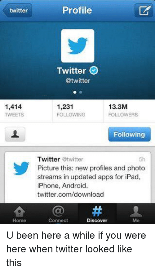 Twitter 1414 TWEETS Home Profile Twitter 133M 1231 FOLLOWING