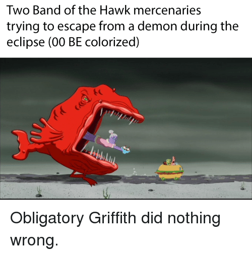 🔥 25+ Best Memes About Griffith Did Nothing Wrong ...