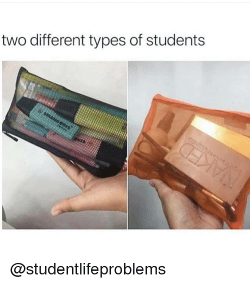 Tumblr, Http, and Com: two different types of students @studentlifeproblems