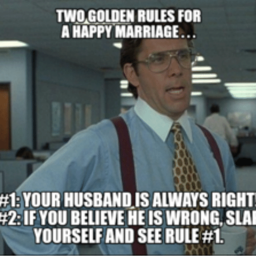 two golden rules for a happy marriage 1 your husbandis 13906000 two golden rules for a happy marriage 1 your husbandis always right