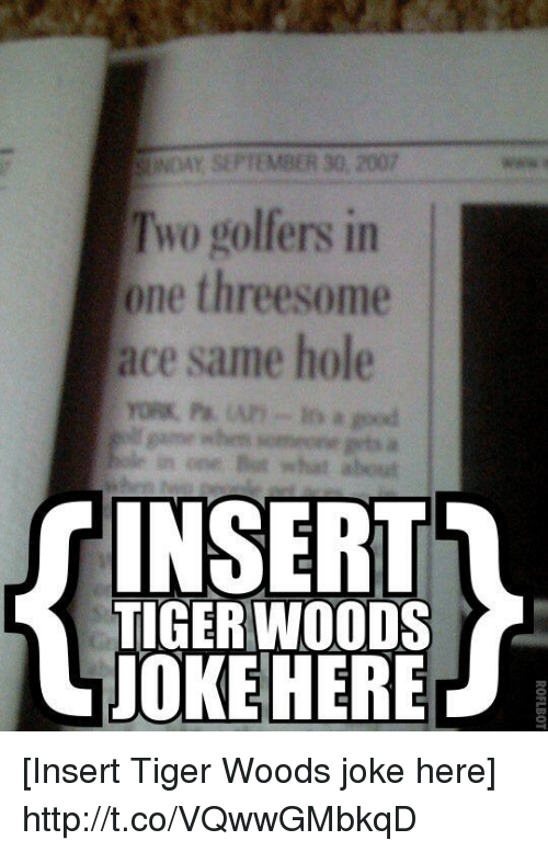 Tiger woods threesome