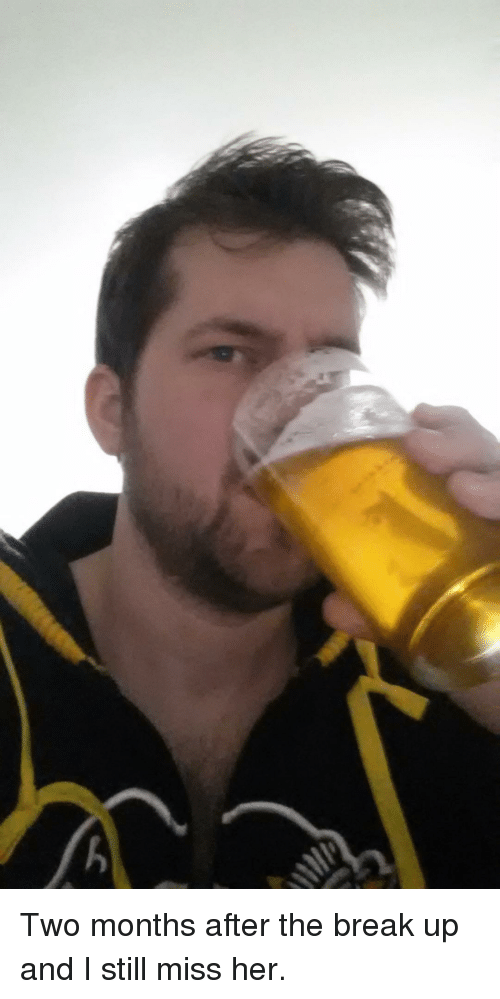 what does an alcoholic do after a break up