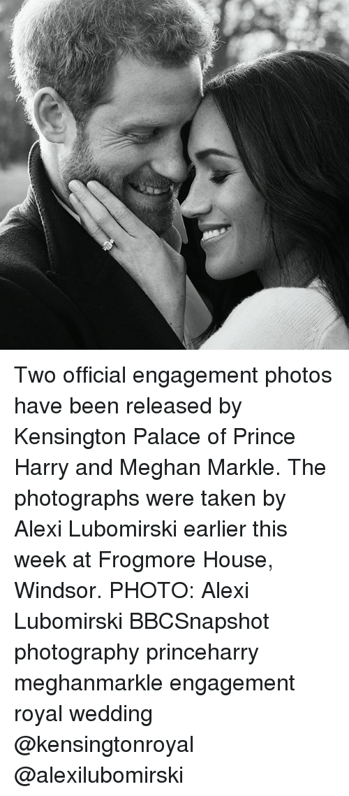 Memes, Prince, and Prince Harry: Two official engagement photos have been released by Kensington Palace of Prince Harry and Meghan Markle. The photographs were taken by Alexi Lubomirski earlier this week at Frogmore House, Windsor. PHOTO: Alexi Lubomirski BBCSnapshot photography princeharry meghanmarkle engagement royal wedding @kensingtonroyal @alexilubomirski