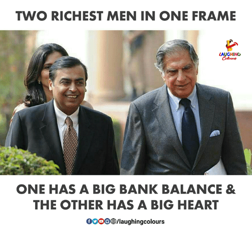 TWO RICHEST MEN IN ONE FRAME LAUGHINO Colours ONE HAS a BIG BANK ...