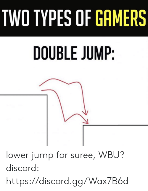 Gg, Memes, and 🤖: TWO TYPES OF GAMERS  DOUBLE JUMP lower jump for suree, WBU?  discord: https://discord.gg/Wax7B6d