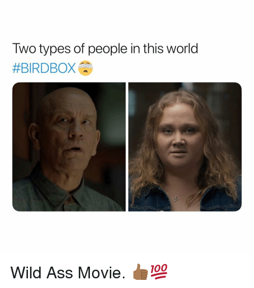 Ass, Movie, and Wild: Two types of people in this world  Wild Ass Movie. 👍🏾💯