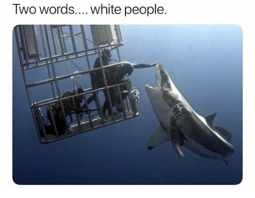 Relationships, White People, and White: Two words....white people.
