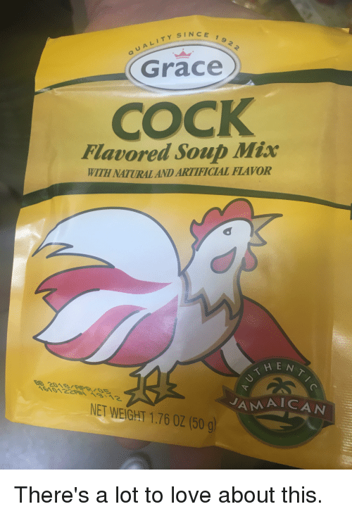 Grace cock flavoured soup mix, mature black booty mgp