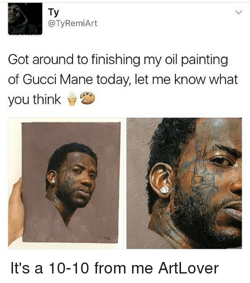 1e5c4c32ae243a Ty RemiArt Got Around to Finishing My Oil Painting of Gucci Mane ...