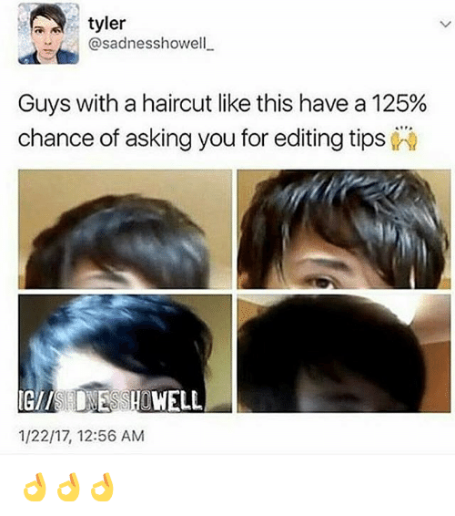 Tyler Ar Howell Guys With A Haircut Like This Have A 125 Chance Of
