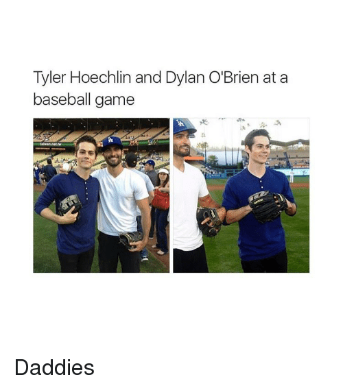 Baseball, Dylan O'Brien, and Game: Tyler Hoechlin and Dylan O'Brien at a  baseball game Daddies