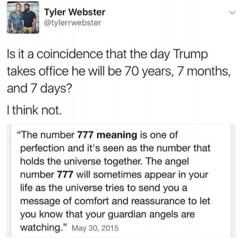 Tyler Webster Is It a Coincidence That the Day Trump Takes Office He